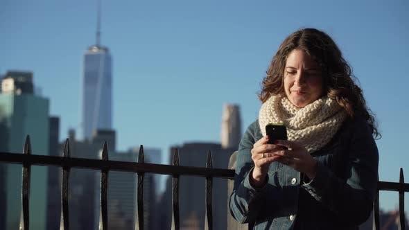 Thumbnail for A Beautiful Woman Texting 3