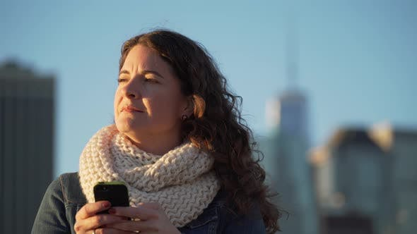Thumbnail for A Beautiful Woman Texting 4
