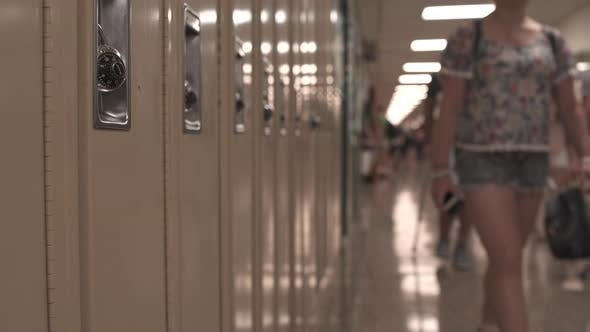 Thumbnail for Students Walking Down Hall By Lockers (5 Of 16)