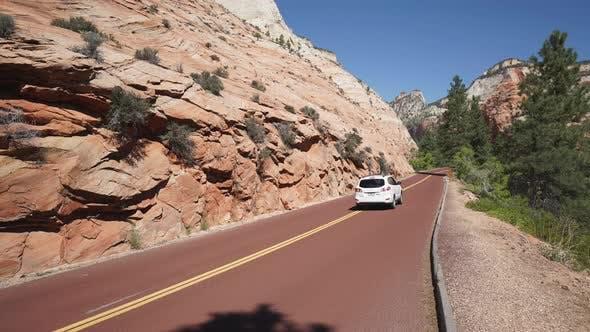 Thumbnail for Roadside Crane Shot In Zion National Park 2
