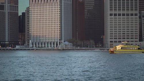 Boats On The Hudson River, Manhattan Shore