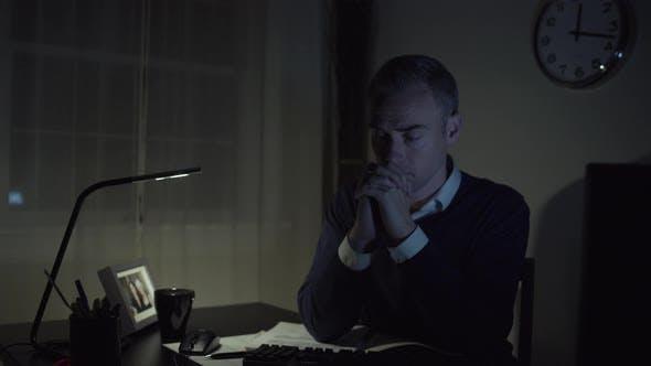 Thumbnail for Sad Man At His Office Desk 2