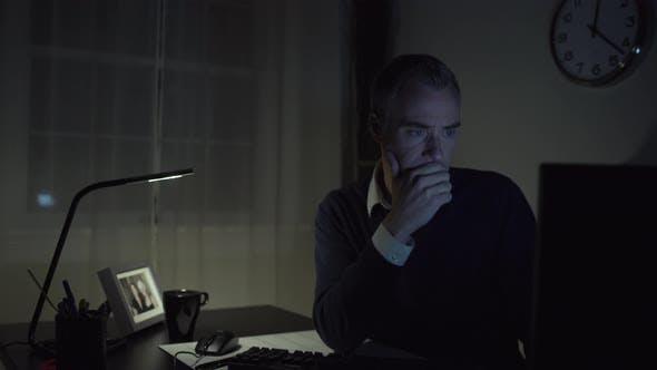 Thumbnail for Sad Man At His Office Desk 3