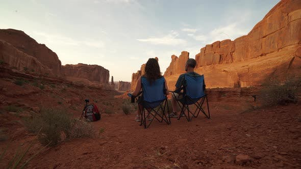 Thumbnail for Couple Admires Arches National Park