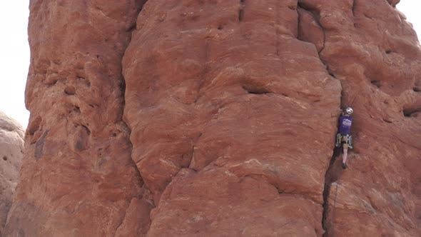 Thumbnail for View Of A Rock Climber In Arches National Park 5