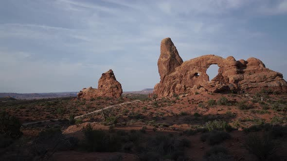 Thumbnail for Dolly Shot Of Turret Arch In Arches National Park 4