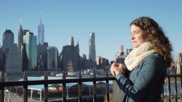 Thumbnail for Woman Looks At Nyc Skyline 1