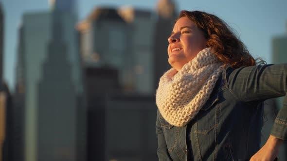 Thumbnail for Woman Looks At Nyc Skyline 10