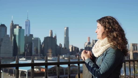 Thumbnail for Woman Looks At Nyc Skyline 2