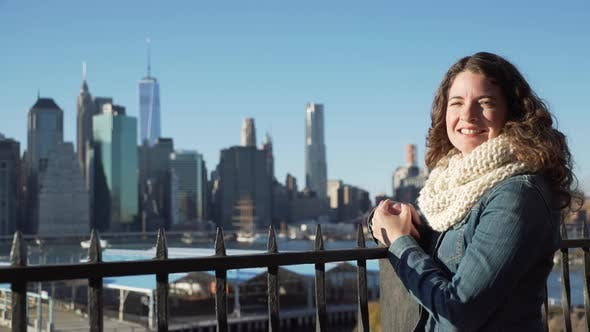 Thumbnail for Woman Looks At Nyc Skyline 3