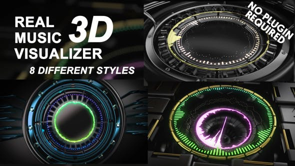 Thumbnail for Real 3D Music Visualizer