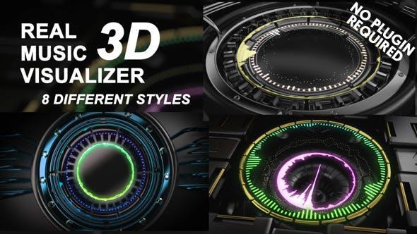Visualizador de música 3D real