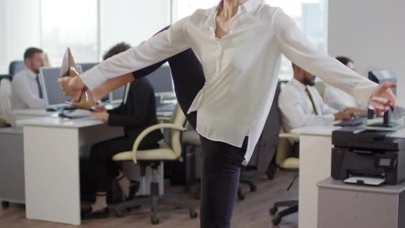Thumbnail for Beautiful Businesswoman Stretching Her Legs