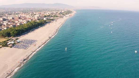 Calabria City aerial view of Locri