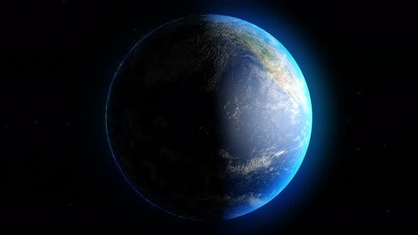 Rotation Earth 4k