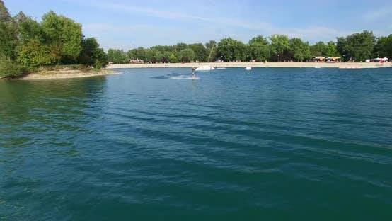 Thumbnail for Man wakeboarding at Wake Park in Zagreb, Croatia Jarun