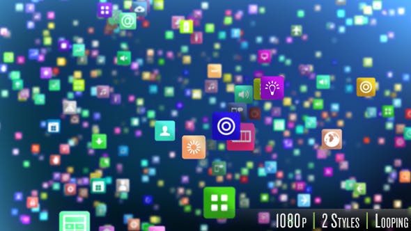 Smartphone App Marketplace Background