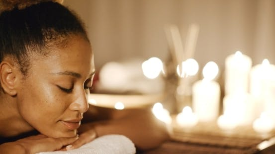 Thumbnail for Young Woman Relaxing On A Massage Bench