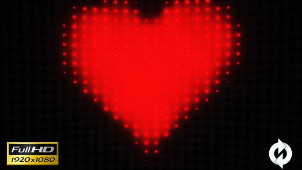 Thumbnail for Heart with Lights VJ - 2