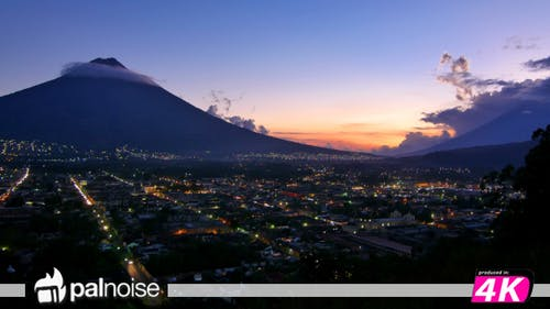 Antigua Guatemala Volcano Town