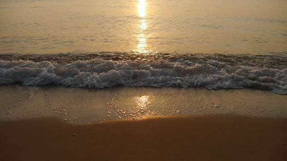 Thumbnail for Sea Waves Splashing Sand Beach