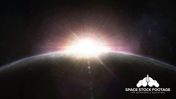 Thumbnail for Sunrise Over Planet Earth