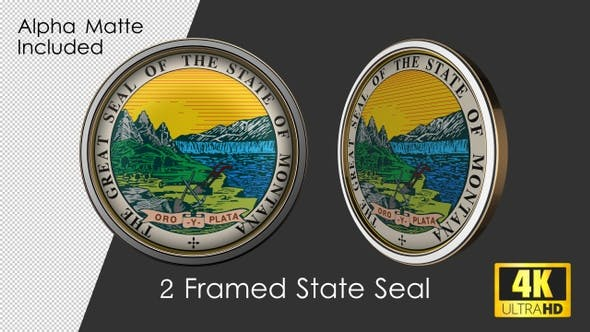 Framed Seal Of Montana State
