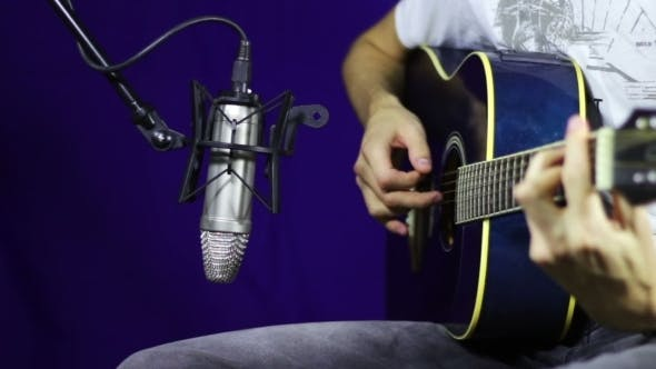 Thumbnail for Recording Acoustic Guitar In The Studio.