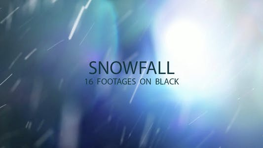 Thumbnail for Snowfall on black 16 footages package