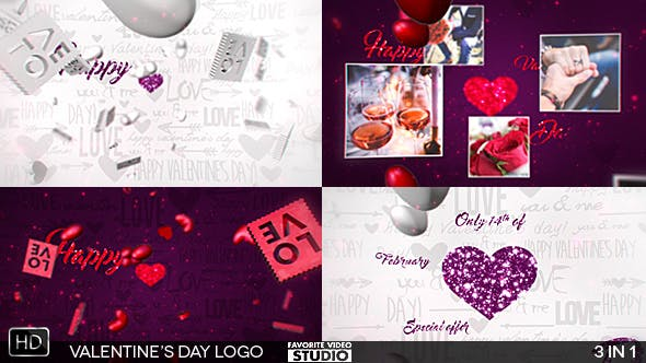 Thumbnail for Valentine's Day Logo 3in1