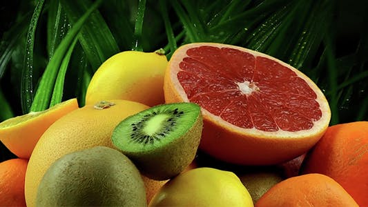 Thumbnail for Fruits on Grass Background