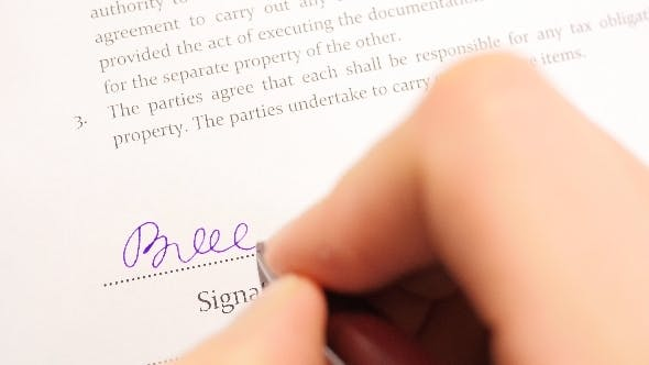 Thumbnail for Signing Business Contract in Office