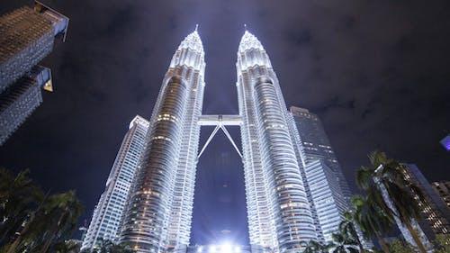 Kuala Lumpur Towes At Night