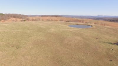 Aerial of Ranch and Farm Fields