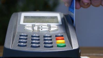 Swiping Card Through Credit Card Terminal