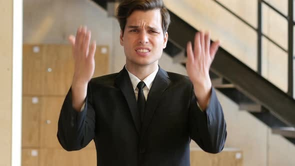 Thumbnail for Unsatisfied Businessman Angry with Teammates, Screaming