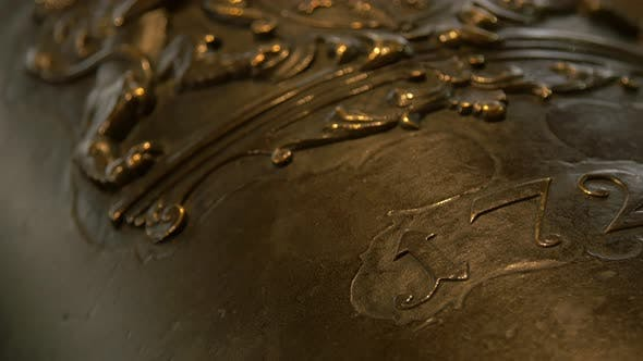 Thumbnail for Close up of an year inscription on a cannon