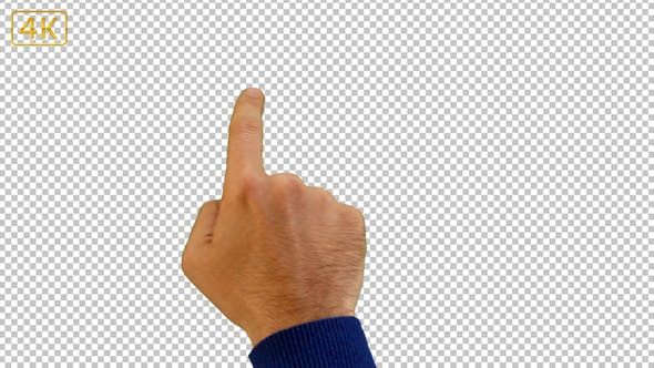 Thumbnail for Caucasian Young Man Screen Touch Gestures Full Keyed 4K