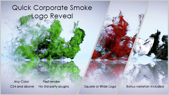 Thumbnail for Quick Corporate Smoke Logo Reveal