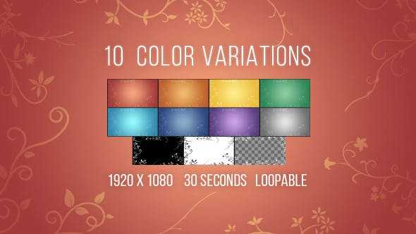 Thumbnail for Animated Floral Background - 10 Colors