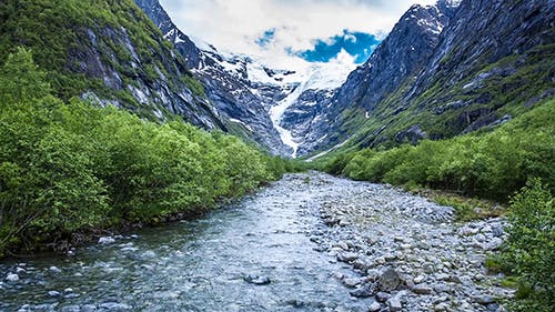 Glacier Kjenndalsbreen