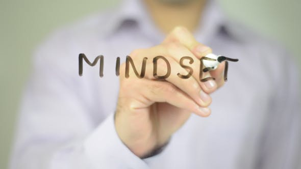 Thumbnail for Mindset,  Man Writing on Transparent Screen