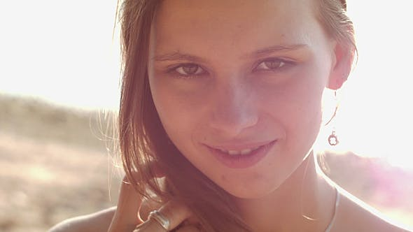 Thumbnail for Cute Girl Smiling In Sunny Rays