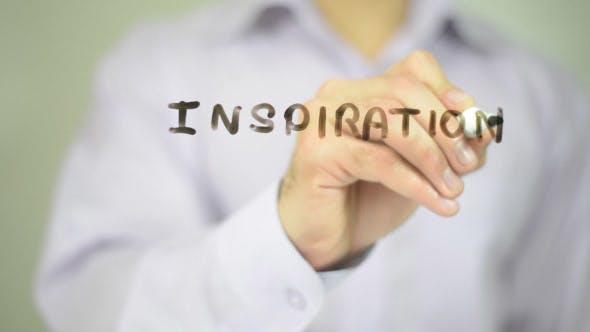 Thumbnail for Inspiration,  Man Writing on Transparent Screen