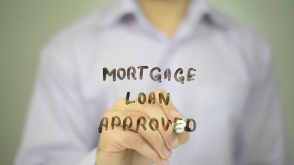 Thumbnail for Mortgage Loan Approved,  Man Writing on Transparent Screen