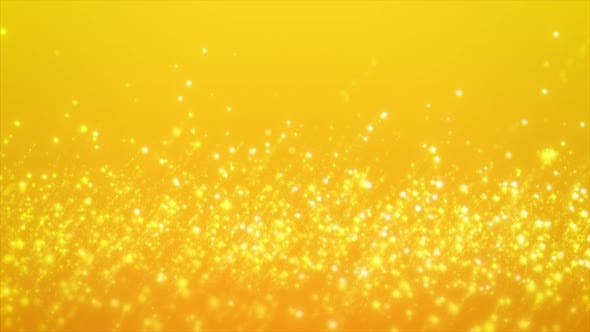 Thumbnail for Abstract Motion Background Shining Gold Stars