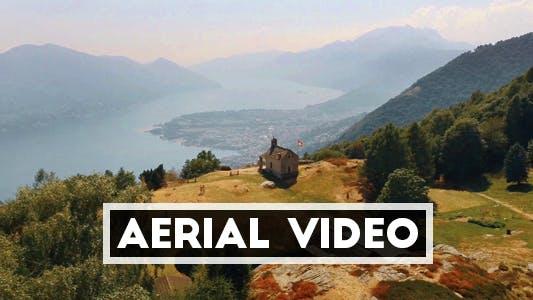 Aerial Video of Alp in Switzerland