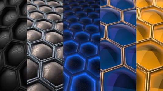 Thumbnail for Honeycomb Abstract 3D Background Pack