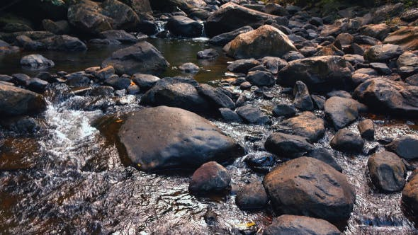 Thumbnail for Flowing Waterfall On Rock