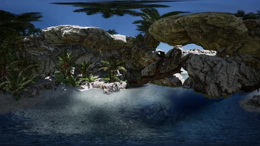 Thumbnail for VR 360 Cave Paradise Blue Sea and Sky
